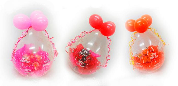 Héliumos lufik, ajándékkal